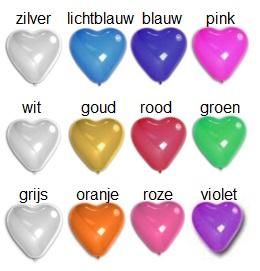 ballonnen in hartvorm