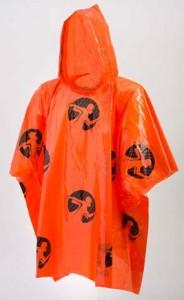poncho oranje