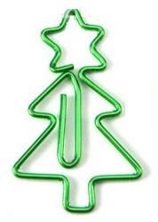gevormde paperclips kerstboom