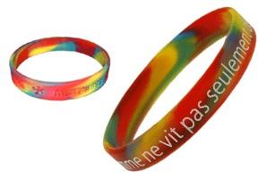 gemengde kleuren silicone armbandjes